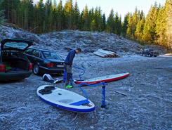 Vrangen sitio de stand up paddle / paddle surf en Noruega