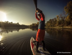 Wallsee Altarm spot de stand up paddle en Autriche