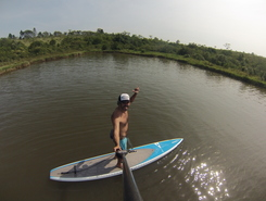 Represa do Patrominio paddle board spot in Brazil