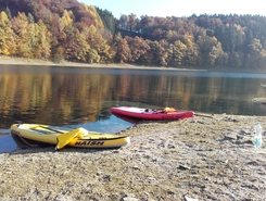 Aggertalsperre sitio de stand up paddle / paddle surf en Alemania