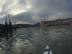 Bristol's Floating Harbour paddle board spot in United Kingdom