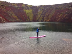 Volcano paddle board spot in Iceland