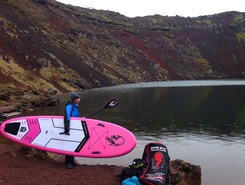 Volcano sitio de stand up paddle / paddle surf en Islandia