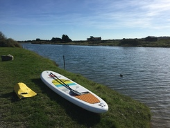 La salaire paddle board spot in France