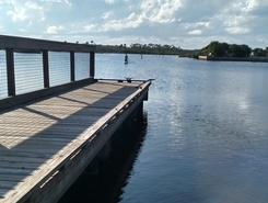 gamble rogers  state park paddle board spot in United States