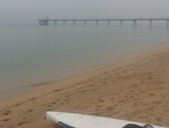 Badalona paddle board spot in Spain