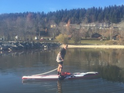 SUPer sortie d'automne sitio de stand up paddle / paddle surf en Suiza