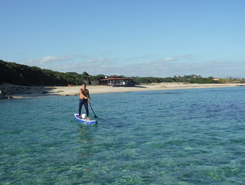 Cala Sinzias sitio de stand up paddle / paddle surf en Italia