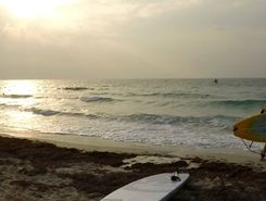 Dukhan Beach paddle board spot in Qatar