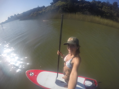 Laguna del perro spot de stand up paddle en Chili