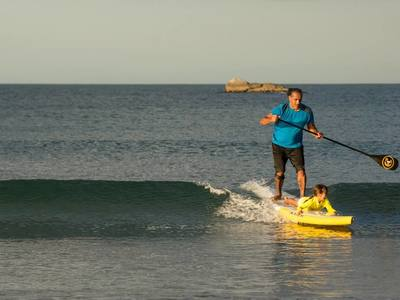 Mount Maunganui Beach paddle board spot in New Zealand