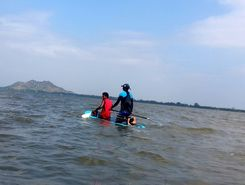 Madurantakam lake paddle board spot in India