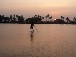 LAT 12 40 Lake paddle board spot in India