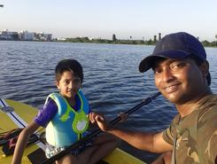 Madambakkam Lake paddle board spot in India