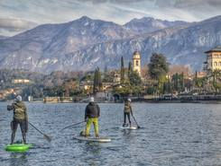 Bellagio paddle board spot in Italy