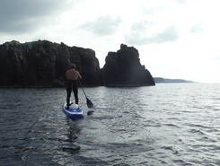 La Tonnara paddle board spot in Italy