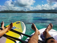 Plage de Poé paddle board spot in New Caledonia