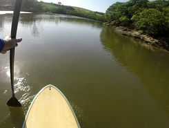 Boca da Barra paddle board spot in Brazil