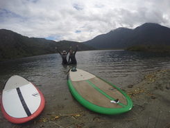 Laguna Verde, Futaleufu sitio de stand up paddle / paddle surf en Chile