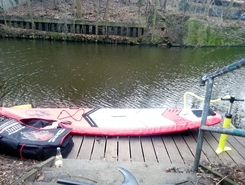 U Eppendorfer Baum paddle board spot in Germany