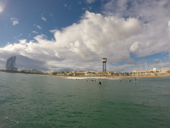 La Barceloneta sitio de stand up paddle / paddle surf en España