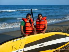 kovalam - Bay of life beach spot de stand up paddle en Inde