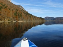 Bohinj paddle board spot in Slovenia