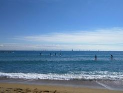 La Barceloneta paddle board spot in Spain