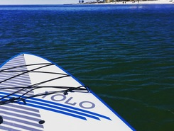 West beach gulf shores paddle board spot in United States