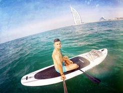 From Al Sufouh Beach to Burj al Arab spot de stand up paddle en Émirats arabes unis