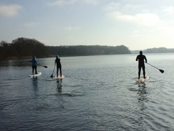Haddebyer Noor paddle board spot in Germany