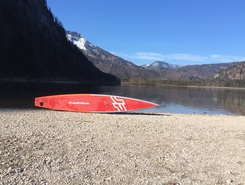 Offensee paddle board spot in Austria