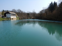 Lahinja paddle board spot in Slovenia