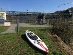 Lahn paddle board spot in Germany