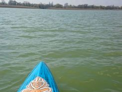 Balatonfenyves strand paddle board spot in Hungary