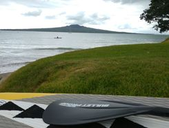narrow neck spot de stand up paddle en Nouvelle-Zélande