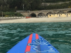 Caminia paddle board spot in Italy