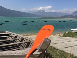 Santa croce lake  paddle board spot in Italy