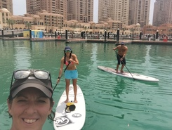 The Pearl paddle board spot in Qatar