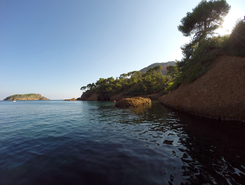 Calanque du Mugel sitio de stand up paddle / paddle surf en Francia