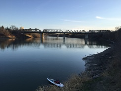 North Saskatchewan River - Louise McKinney Riverfront Park spot de stand up paddle en Canada