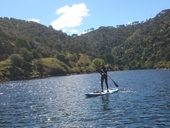 Rio Alberche paddle board spot in Spain