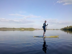 Ogre Daugava paddle board spot in Latvia