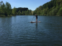 Wupper paddle board spot in Germany