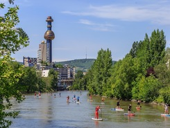 Vienna SUP Tour Start paddle board spot in Austria