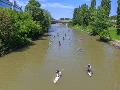 Vienna SUP Tour Start sitio de stand up paddle / paddle surf en Austria