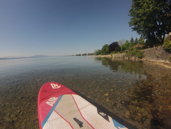 Port de prangins spot de stand up paddle en Suisse