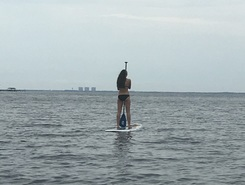 1st biking with Elana paddle board spot in United States
