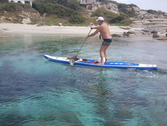 Marina Piccola paddle board spot in Italy