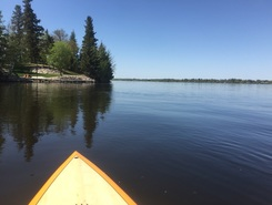 Town of Lac du Bonnet paddle board spot in Canada